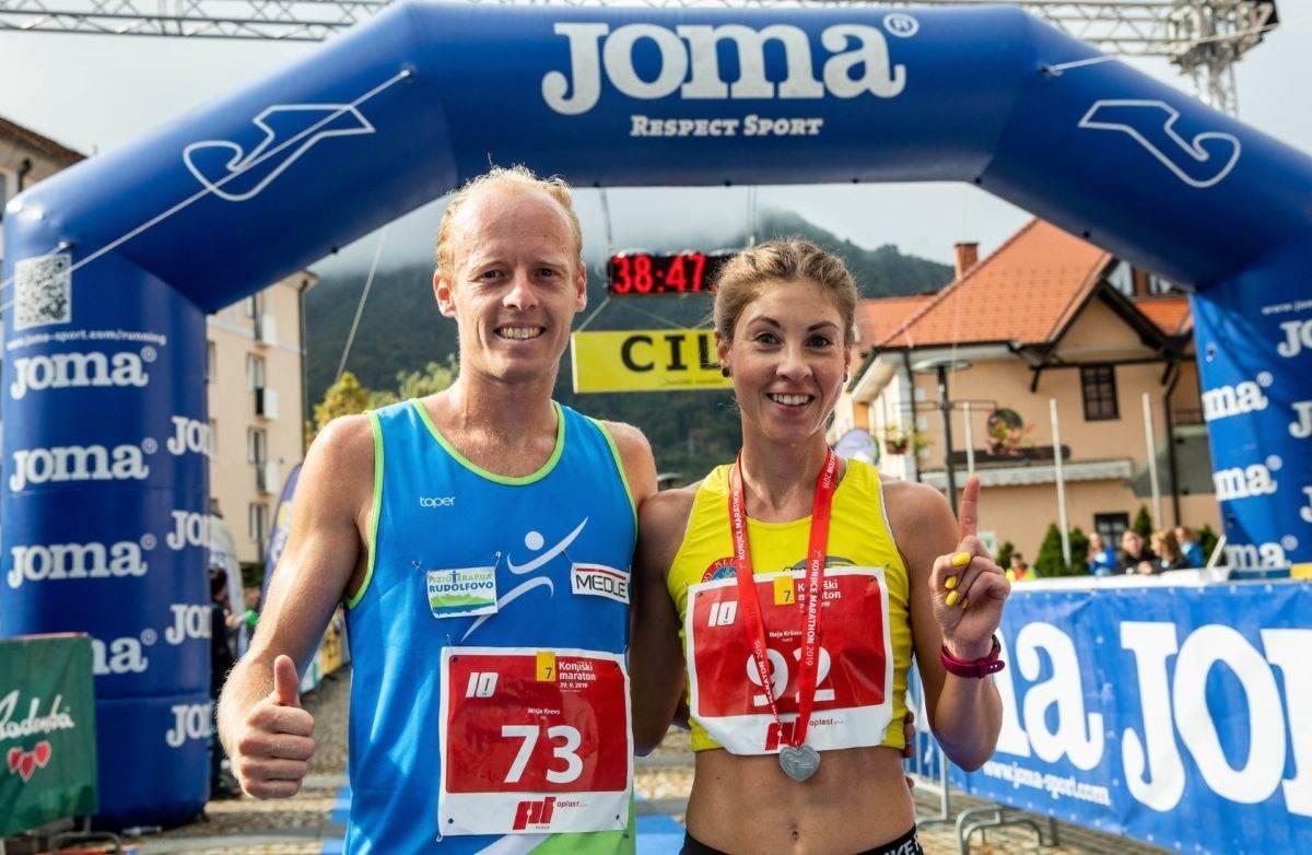 Mitja Krevs, Neja Krsinar, 7. Konjiški maraton 2019 / 7th Konjice marathon 2019 29. september 2019, Slovenske Konjice Foto: Vid Ponikvar / Sportida